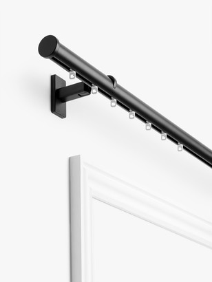 John Lewis & Partners Made to Measure Revolution Curtain Pole with Rings and Stud Finials, Wall / Ceiling Fix, Dia.30mm