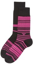 Emporio Armani 2 Pack Colored Basic Stripe Dress Socks