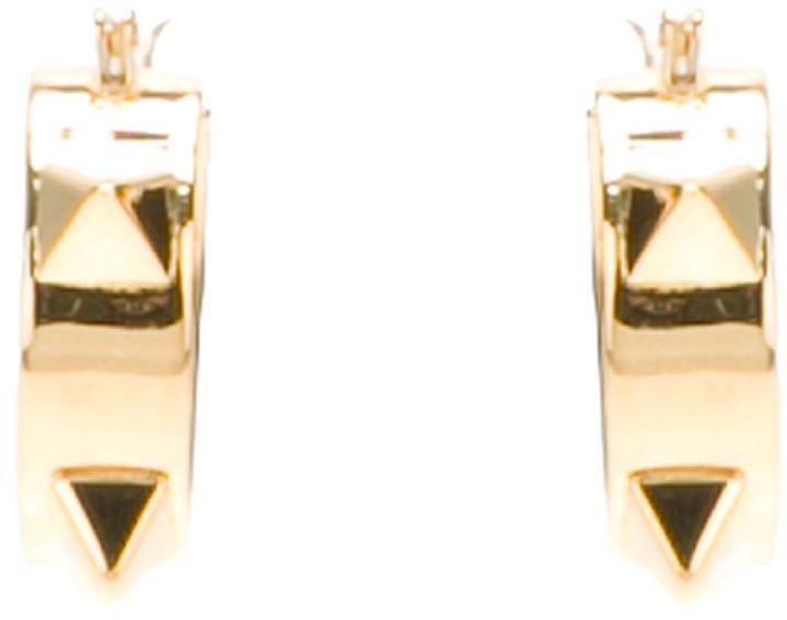 Tom Binns small pyramid stud hoop earrings