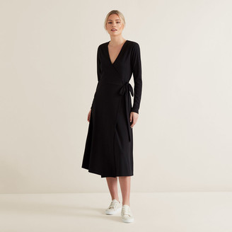 Seed Heritage Ribbed Tie Up Dress