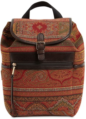 Etro Paisley Jacquard & Leather Backpack