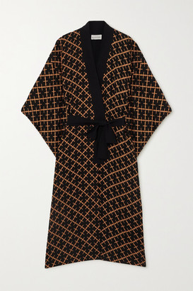 By Malene Birger Kimonah Oversized Belted Printed Twill Jacket - Copper
