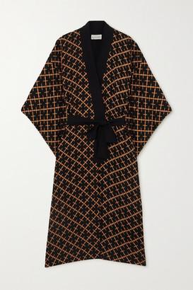 By Malene Birger Kimonah Oversized Belted Printed Twill Jacket