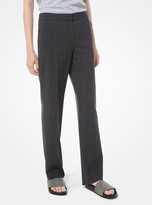 MICHAEL Michael Kors Glen Plaid Stretch-Wool Trousers