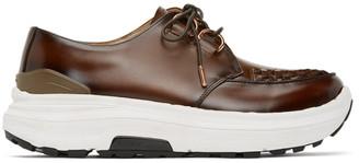Fumito Ganryu Brown Suvsole Edition Leather Advantique Derbys