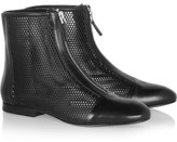 Jil Sander Perforated leather ankle boots