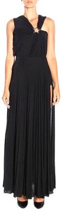 Elisabetta Franchi Celyn B. Dress Long Dress In Lurex Fabric With Star