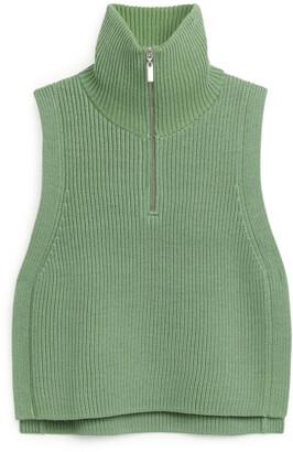 Arket Half-Zip Wool Bib