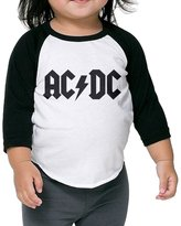 SARHT AC DC ACDC Rock Band Logo Kids 3/4 Raglan Baseball T Shirts