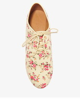 Forever 21 Floral Canvas Oxfords