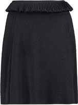 See by Chloe Pleated cloqué mini skirt