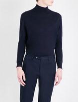 Canali Mock turtleneck wool jumper