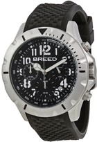 Breed Sergeant Black Dial Black Silicone Strap Men's Watch