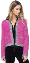 Juicy Couture Fluffy Multi Colored Cardigan