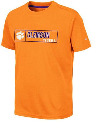 Colosseum Big Boys Clemson Tigers Boxed Logo Polyester T-Shirt