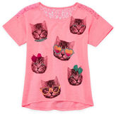 JCPenney Total Girl Lace-Back Tee - Girls 7-16 and Plus
