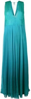 Alberta Ferretti sleeveless gathered dress