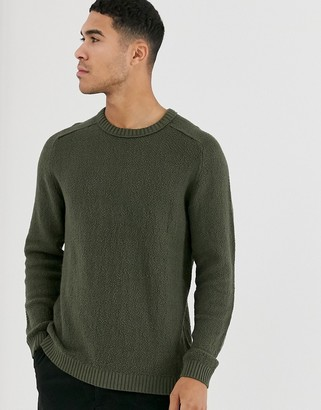 Jack and Jones Core crew neck sweater in green