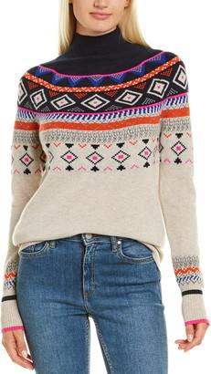 Autumn Cashmere Fairisle Mock Cashmere Sweater