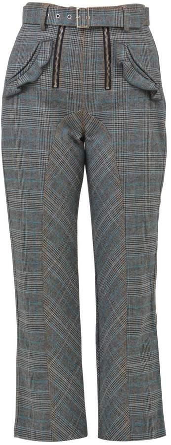 Self-Portrait Grey Lexi Trousers