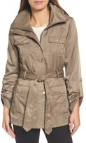 Ellen Tracy Women's Techno Short Trench Coat