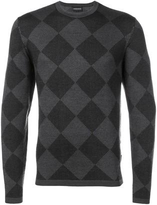 Emporio Armani Checked Sweater