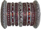 Indian Bridal Collection! Panache' Bangles Set in Silver Tone By BangleEmporium. Medium