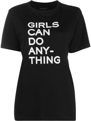 Zadig & Voltaire slogan print round neck T-shirt