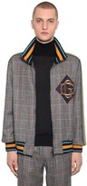 Dolce & Gabbana Zip-up Checked Wool Blend Jacket