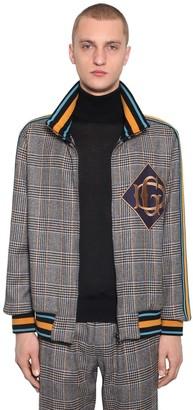 Dolce & Gabbana Zip-Up Checked Wool Blend Jacket