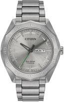 Citizen Men's Eco-Drive Silver-Tone Titanium Bracelet Watch 44mm AW0060-54A