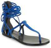 Sigerson Morrison Braze Suede Strappy Sandals