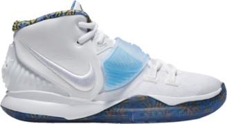 Nike Kyrie 6 Basketball Shoes - White / Sapphire