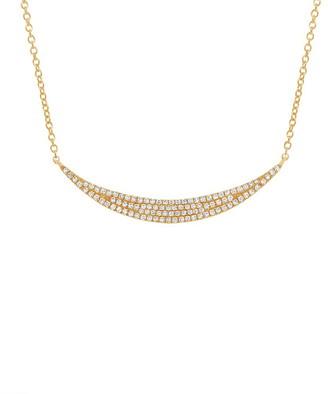 Ron Hami 14K Yellow Gold Diamond Crescent Pendant Necklace - 0.25 ctw