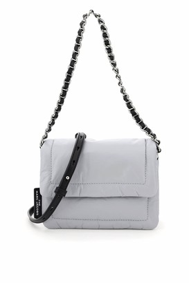 MARC JACOBS, THE MARC JACOBS (THE) THE PILLOW MINI SHOULDER BAG OS Grey, Black Leather