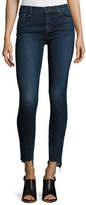 J Brand 811 Mid-Rise Skinny Staggered-Hem Jeans, Mesmeric