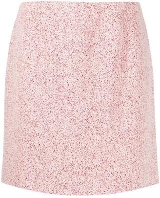 Namacheko micro-pattern mini skirt
