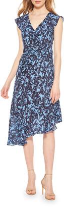 Parker Brynlee Printed Asymmetrical Midi Dress
