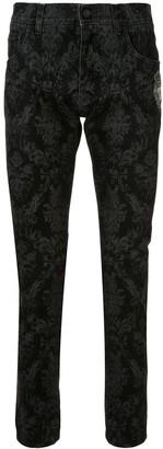 Dolce & Gabbana Logo Print Skinny Trousers