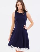 Dorothy Perkins Lace Hem Skater Dress