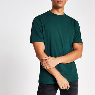 River Island Dark teal regular fit short sleeve T-shirt
