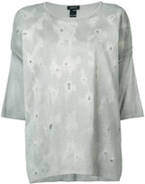Avant Toi oversize distressed top - women - Silk - XS
