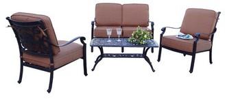 Berenice Astoria Grand Patio 4 Piece Sofa Seating Group with Cushions Astoria Grand