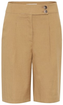Veronica Beard Saira High-rise linen-blend shorts
