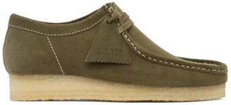 Clarks Khaki Suede Wallabee Moccasins