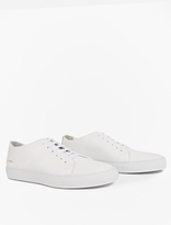 Common Projects White Low Court Leather Sneakers