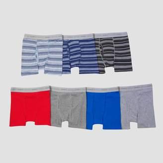 Hanes Boys' 7pk Boxer Briefs - Gray/Blue/Red