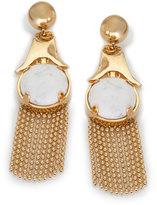 Lele Sadoughi Gazebo Marble Tassel Chandelier Earrings