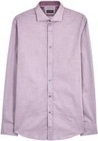 Pal Zileri Purple Cotton Jacquard Shirt