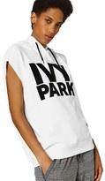 Ivy Park Women's Raw Hem Peached Logo Sleeveless Hoodie